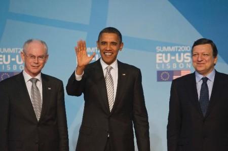 ...men tar seg denne uken også tid til å besøke EUs institusjoner i Brussel - her representert ved rådspresident Herman avn Rompuy og kommisjonspresident Jose Manuel Barroso. Foto: EU-kommisjonen.