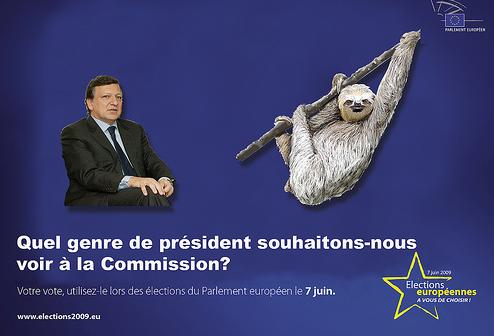 Tulle-valgplakat om Jose Barroso