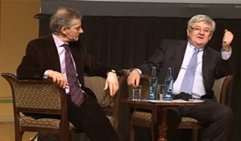 EU-prat med Støre og Fischer (foto: UD)