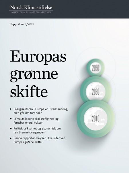 Energi- og klimapolitikk i EU - rapportens forside.