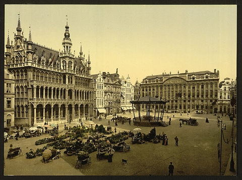 Grande Place, Brussel ca. 1890-1900 (foto: Library of Congress)