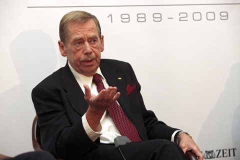 Vaclav Havel i Berlin (foto: Dirk Enters)