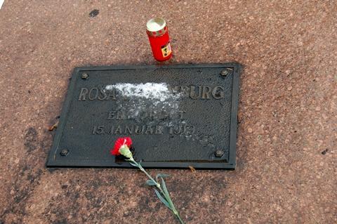Graven der alle trodde Rosa L. lå (foto: oaø)