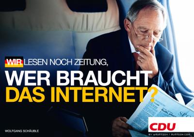 """""""Vi leser fortsatt avis. Hvem trenger internett?"""""""